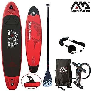 Aqua Marina, Monster, Paddle Board Kit S, Sup, 330x 75x 15cm, AM Stand Up Paddelboard inkl. Pumpe, Finne, Paddel, Tragetasche & Coil Leash