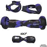 SILISKINZ Housse de Protection en Silicone pour Hoverboard de 180 degrés - pour Scooter Intelligent DE 6,5 po à 2 Roues Swegway (Violet/Noir)