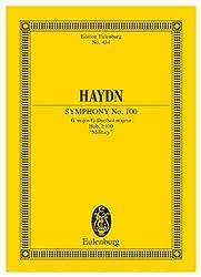 EULENBURG HAYDN JOSEPH - SYMPHONY NO. 100 G MAJOR, MILITARY HOB. I: 100 - ORCHESTRA