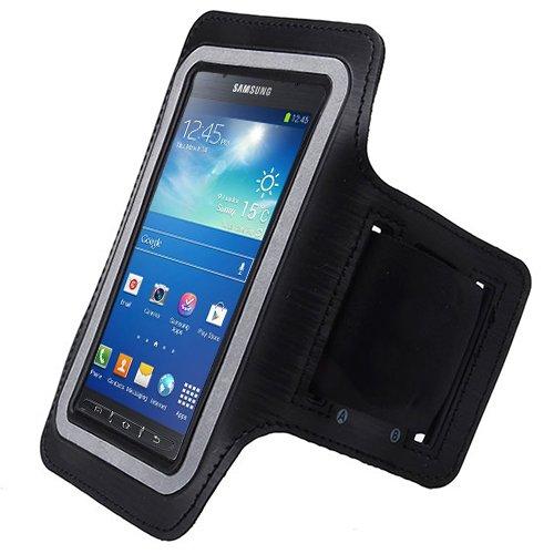 Schwarz Armband Workout Schutzhülle für Samsung Galaxy S 5S5Active mit Gratis Beutel (Verizon Samsung Galaxy S5 Active)