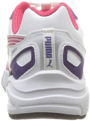 Puma Jr Axis2 Sl, Chaussures de sport garçon Blanc (white-virtual pink-silver)