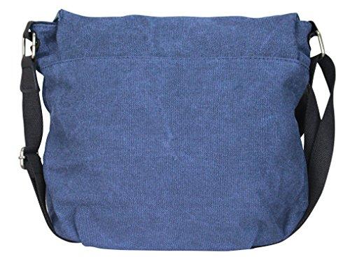 PiriModa, Borsa a spalla donna Multicolore multicolore Modell 6 Jeansblau/Grau