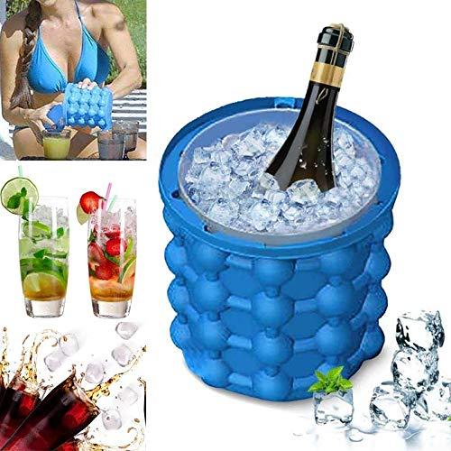 YYZC Neue 120 Gitter Silikon Eiswürfelbereiter Eimer Wein EIS Kühler Bier Schrank Platzsparende Küche Werkzeuge Trinken Whisky Einfrieren (Color : Navy Blue)