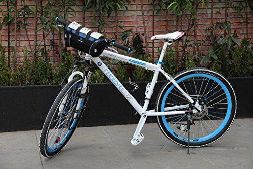 Tofern 2in1 Fahrrad Radfahren Lenkertasche Lenker Beutel Lagerung Tasche Camping Umhängetasche Fahrradkorb - 13L Silber