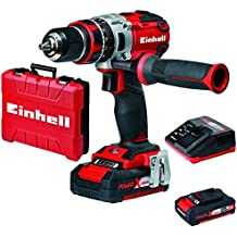 Einhell TE-CD 18 Li-i BL - Taladro percutor Brushless (sin escobillas, 2 velocidades, 60 Nm, luz led, incluye 2 baterías de 2 Ah, Power-X-Change)