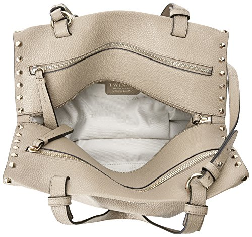 Twin-Set As7t3a, sac bandoulière Bianco Sporco (Almond)