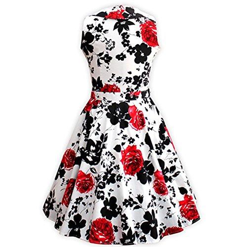 VKStar® ALinie Vintage 1950s Klassisch Chic Frau Blumen Kleid Audrey ...