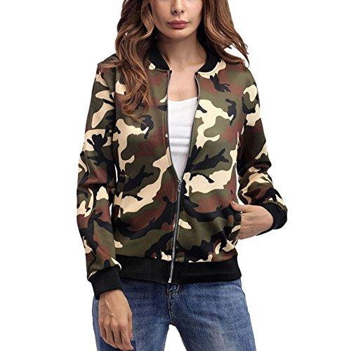 iBaste Damen Hoodie Winter Camouflage Sweatshirt Langarm Jumper Casual Pocket Pullover Jacke Tops Outwear (6-pocket Camouflage)