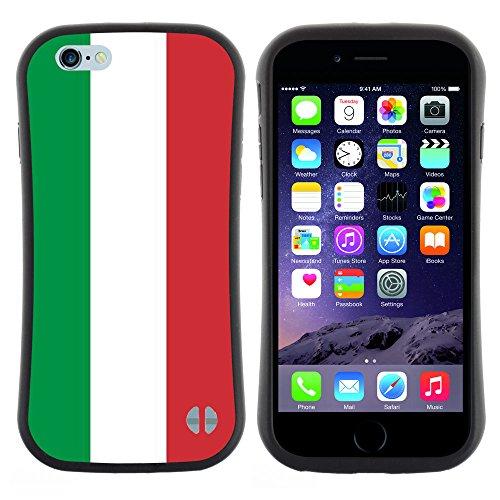 Graphic4You Italien Italienisch Flagge Anti-Rutsch Stoßfeste Hülle Weichen Case Tasche Schale Schutzhülle für Apple iPhone 6 Plus / 6S Plus Design #5