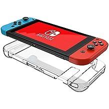Nintendo Switch Case Three Segment Design Mothca Transparent Clear Shock-Absorption and Anti-Scratch Protective Cover PC Hard Rigid Slim Case Snug Fit Nintendo Switch