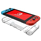 Custodia Nintendo Switch Mothca 3 Segmento Design Trasparente Clear Hard Case Cover AntiUrto Anti-Graffio Shock Reduction Protezione Guards Robusto PC Disco Rigido Slim for Nintendo Switch Console and Joy-Con Controller