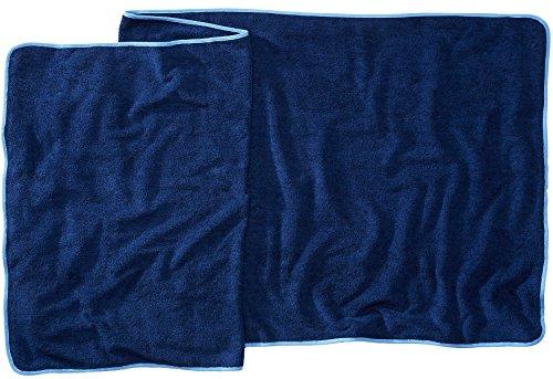 Sowel Strandtuch Saunatuch XXL, Flauschige Qualität 500 g/m², Badehandtuch aus 100% Baumwolle, 80 x 220 cm, Navy Blau