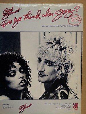 song sheet DO YA THINK I'M SEXY ? Rod Stewart & Carmine Appice 1978