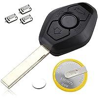 DON LLAVE® AMDLBM06F3 - Carcasa para llave de 3 botones con espada virgen HU92 + Pila recargable + 3 Pulsadores (Modelos en el interior)