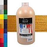 Artina Crylic Acrylfarben - hochwertige Künstler-Malfarbe in 1000 ml Flaschen in Gold & weitere farben