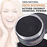 Activated Charcoal Teeth Whitening Powder,Activated Coconut Charcoal Powder for Stronger Healthy Whiter Teeth,Mint Flavor Bild 2