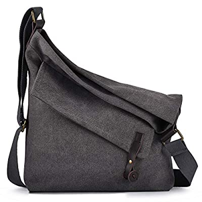 Crossbody Bag,COOFIT Canvas Crossbody Messenger Bag Shouder Bag Handbag for Women Men's