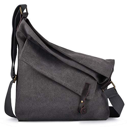 Canvas Tasche,COOFIT Canvas Umhängetasche Crossbody Bag Tasche Damen Schultertasche Messenger Bag Handtasche Kuriertasche (Coofit Verbesserung)