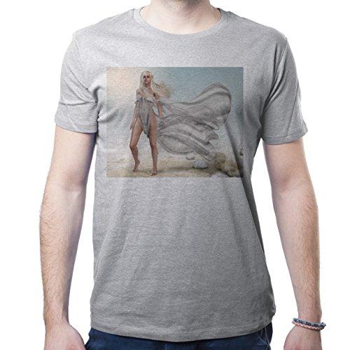 Daenerys Targaryen Game Of Thrones Beauty Nature Wild Herren T-Shirt Grau