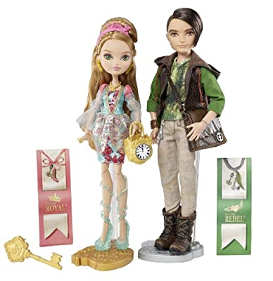 Ever After High - Muñecos de Ashlynn Ella y cazador por Mattel