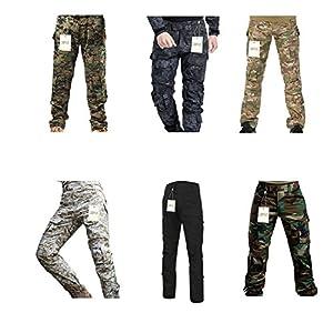 Pantalon militaire, QMFIVE Pantalons Tactical Airsoft Homme Pantalons Combustibles BDU Avec Style Militaire