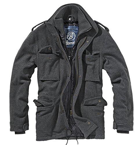 Brandit Herren Jacke M65 Voyager Wool, Grau (Anthrazit 5), XX-Large (Pea-jacke)