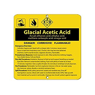 Bair89Pulla Glacial Acetic Acid Aci-Jel; Ethanoic Acid; Ethyliuc Acid Aluminum Metal SIGN 12x12 inch