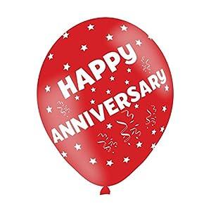 Amscan-990070311pulgadas feliz aniversario globos de látex