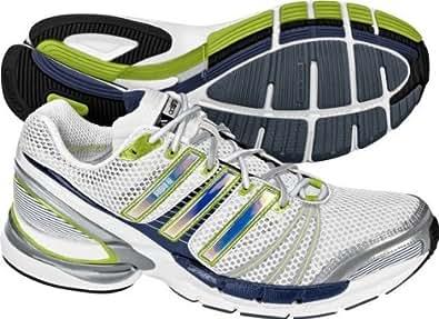 Adidas - Chaussure De Course Running Sport - Adidas Adistar Ride 2 - Couleur : Blanc / Gris / Vert - Taille : 50,5