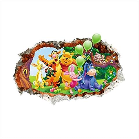 Winnie the Pooh Kinder Wandsticker Wanddekoration Kinder Wandbild Aufkleber Jungle Kids