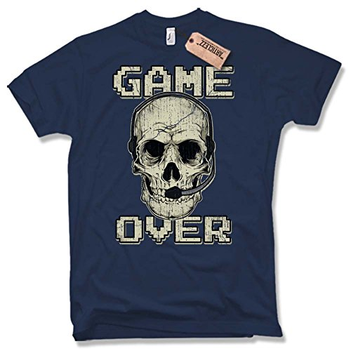 GAME OVER T-Shirt, Skull, Vintage, Gr. S
