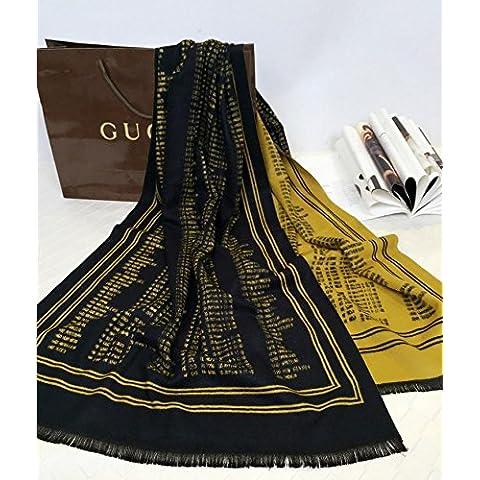 Donna sciarpa di cachemire caldo stampato marmitta bifacciale foulard double-scopo cappa , 5