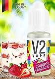 V2 Vape E-Liquid Erdbeer-Joghurt - Luxury Liquid für E-Zigarette und E-Shisha Made in Germany aus natürlichen Zutaten 20ml 0mg nikotinfrei