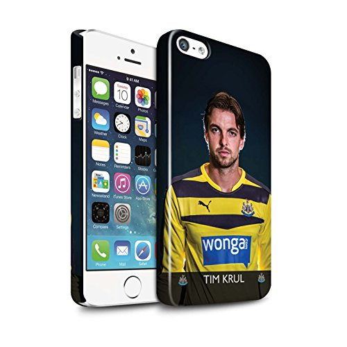 Officiel Newcastle United FC Coque / Clipser Brillant Etui pour Apple iPhone SE / Lascelles Design / NUFC Joueur Football 15/16 Collection Krul