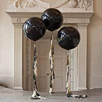 36 Inch Glitz And Glam Tassel Tail Black Giant Balloon for Halloween Party Wedding Decoration (3 Pack)
