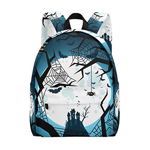 Lupinz Rucksack für die Schule, Klassische Halloween, Fledermäuse, Fliegende Nacht, Reiserucksack für Erwachsene, Kinder, Teenager