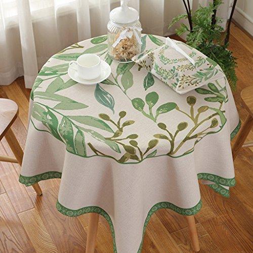 Met Love Runder Tisch Tischdecke Stoff Baumwolle Hanf Stoff Kunst einfach rechtwinklig Tee Tisch Hochzeit Restaurant Party Tisch (Dieses Produkt verkauft nur Tischtücher) ( größe : 140*140cm ) (Runde Bankett-tisch)