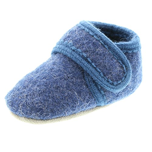 Celavi Baby Unisex Wollschuhe, Alter 12-24 Monate, Größe: 21/22, Farbe: Blau, 3953
