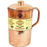 Indian Art Villa New Improved Hammered Copper Jug Pitcher, Drinkware & Serveware (1700 ml)