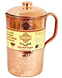 IndianArtVilla New Improved Hammered Copper Jug Pitcher, Drinkware & Serveware (1700 ml)