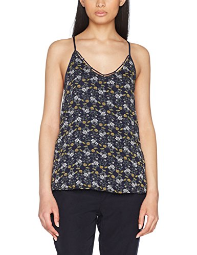 edc by ESPRIT Damen 067CC1F009 Bluse,,per pack Mehrfarbig (Navy 400),X-Large (Cami Pack)
