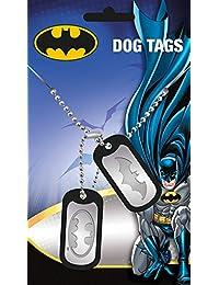 Batman Dog Tag Logo mit Kette, silberfarben aus Metall