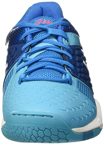 Asics Gel-Blast 7 W, Scarpe da Pallamano Donna Multicolore (Blue Jewel/White/Flash Coral)