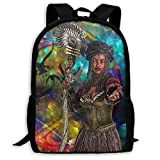 JKOVE Rucksack,Schulrucksack,Abstract Colourful Art Painting Woman Bird Backpack Laptop Bags...