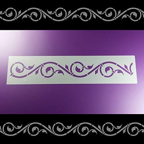 Schablone Bordüre Ornamentband Ranke Volute B1B08