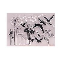 WEISHAZI Dandelion Clear Silicone Seal Stamp for DIY Album Scrapbooking Photo Card Decor