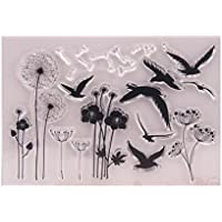 Kimruida Dandelion Clear Silicone Seal Stamp For DIY Album Scrapbooking Photo Card Decor