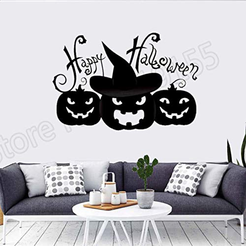 fenshop Halloween Kürbis Wall Decal wasserdicht Aufkleber Art Vinyl Aufkleber Halloween Party Wall Decals Dekoration Wandaufkleber 57x38cm