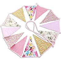 PIXNOR banderines para fiesta de cumpleaños con diseño de algodón–20cm