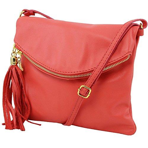 Tuscany Leather - TL Young Bag - Borsa a tracolla con nappa - TL141153 (Magenta) Cognac